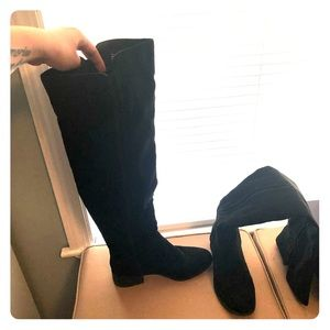 Charlotte Russe velvet over-the-knee boots